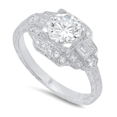 White Gold Ladies Engagement Ring R105