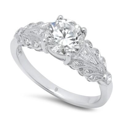White Gold Ladies Engagement Ring R10511