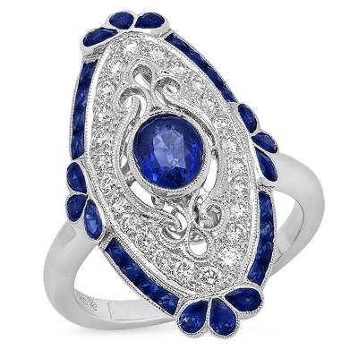 White Gold Ladies Fashion Ring R10957