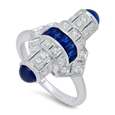 White Gold Ladies Fashion Ring R10969 D,S