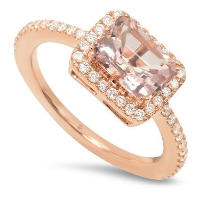 Rose Gold Ladies Fashion Ring R11194(A)-D,MG