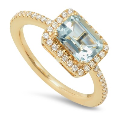 Yellow Gold Ladies Fashion Ring R11194(A)-D,AQ