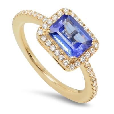 Yellow Gold Ladies Fashion Ring R11194(Y)(A)-D,TZ