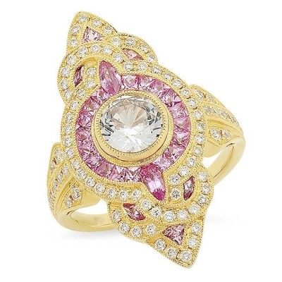 Yellow Gold Ladies Fashion Ring R11213-D,PS,WS