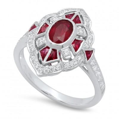 White Gold Ladies Fashion Ring R11779