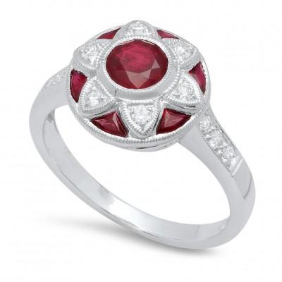 White Gold Ladies Fashion Ring R11787