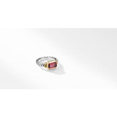 Novella Ring with Rhodalite Garnet and 18K Yellow Gold