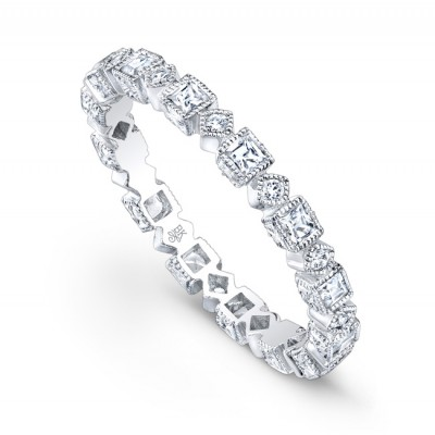 White Gold Ladies Bands R146- D,D