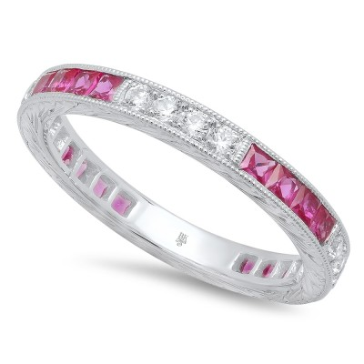 White Gold Ladies Bands R147-D,R