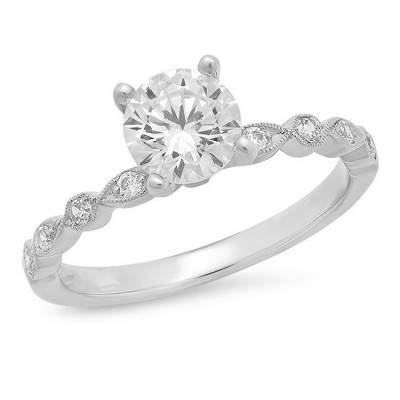 White Gold Ladies Engagement Ring R157