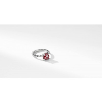 Chatelaine® Ring with Rhodolite Garnet and Diamonds