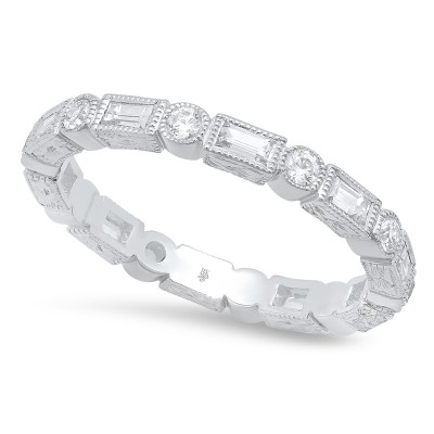 White Gold Ladies Bands R185- D,D