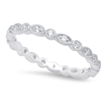 White Gold Ladies Bands R702-D,D