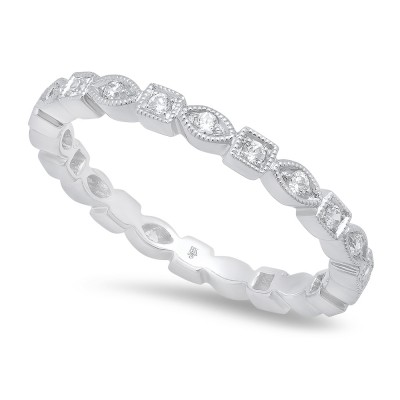White Gold Ladies Bands R703-D,D