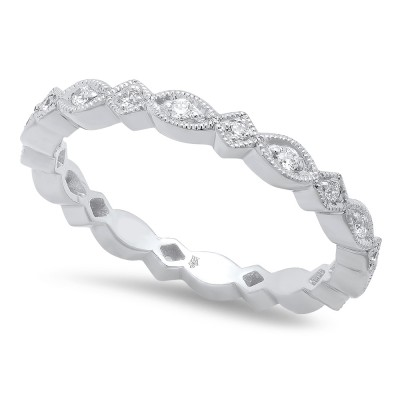 White Gold Ladies Bands R704-D,D