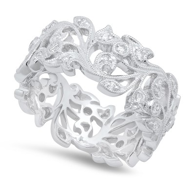 White Gold Ladies Bands R720-D,D