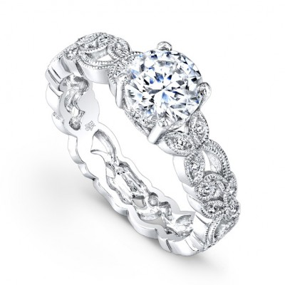 White Gold Ladies Engagement Ring R769(A)-D,D,CZ