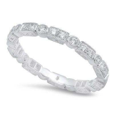 White Gold Ladies Bands R806-D,D