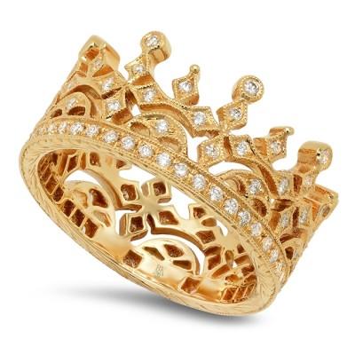 Yellow Gold Ladies Fashion Ring R820 (YELLOW)