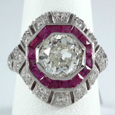 18k White Gold Ladies Fashion Ring R9298