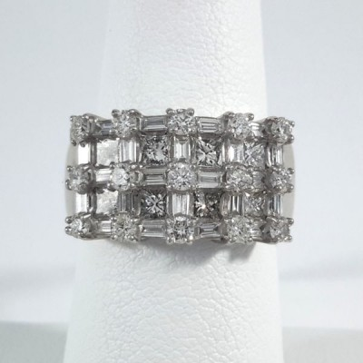 Platinum Ladies Fashion Ring R9935