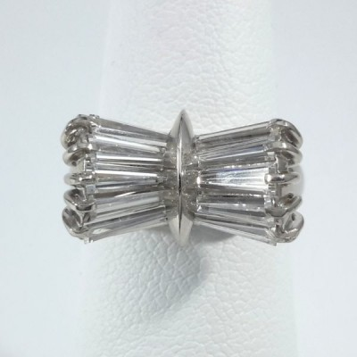 Platinum Ladies Fashion Ring R9938