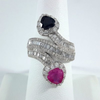 18k White Gold Ladies Fashion Ring R9947