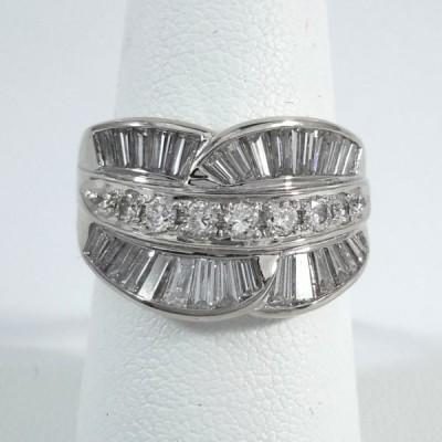Platinum Ladies Fashion Ring R9966
