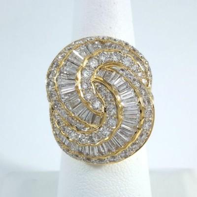 18k Yellow Gold Ladies Fashion Ring R9970