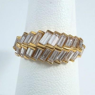 18k Yellow Gold Ladies Fashion Ring R9971