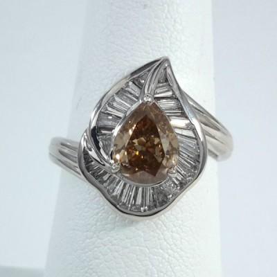 Platinum Ladies Fashion Ring R9973