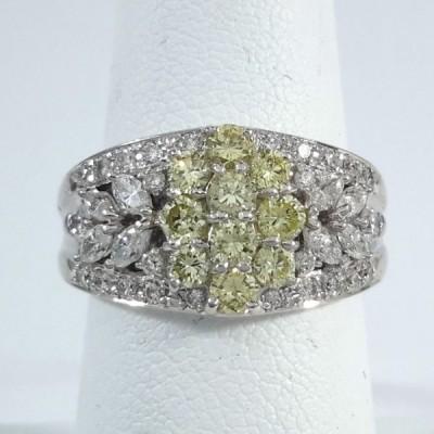 Platinum Ladies Fashion Ring R9974