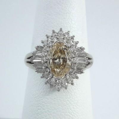 Platinum Ladies Fashion Ring R9976