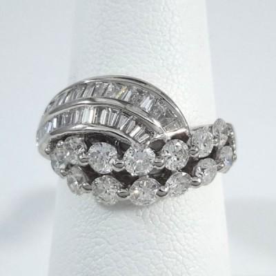 Platinum Ladies Fashion Ring R9977