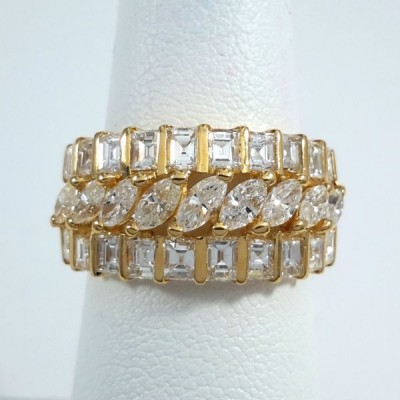 18k Yelloe Gold Ladies Fashion Ring R9986