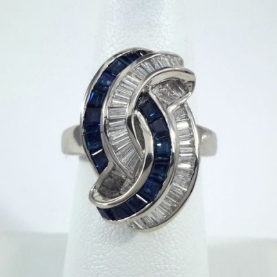 Platinum Ladies Fashion Ring R9998