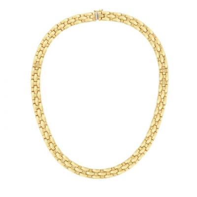 14K Gold Basketweave Necklace