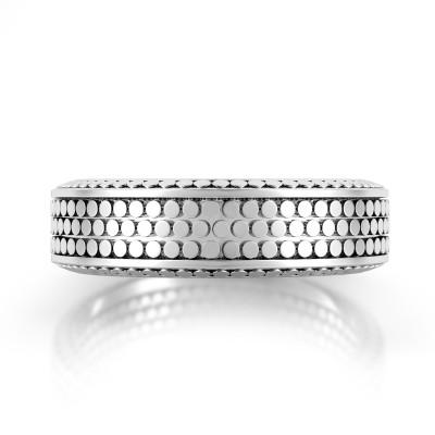 Domed Men's Wedding Ring