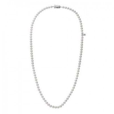 """34"""" Akoya Cultured Pearl Special Edition Necklace– 18K White Gold Clasp [Online Exclusive]"""