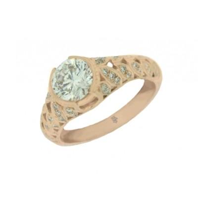 Rose Gold Ladies Engagement Ring R10353(A)-D,D