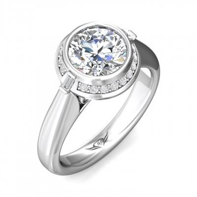 14k White Gold Ladies Engagement Ring VS15
