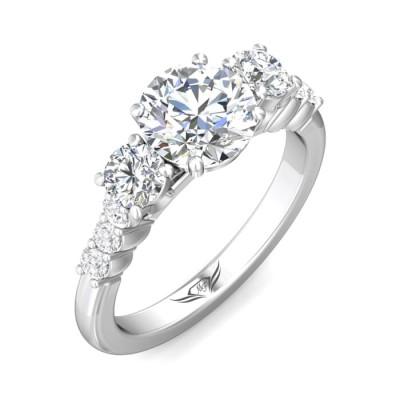 14k White Gold Ladies Engagement Ring VSP05M