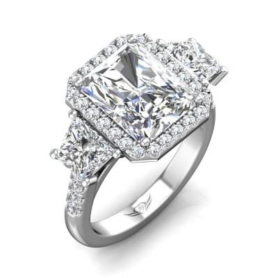 14k White Gold Ladies Engagement Ring VT12SBT