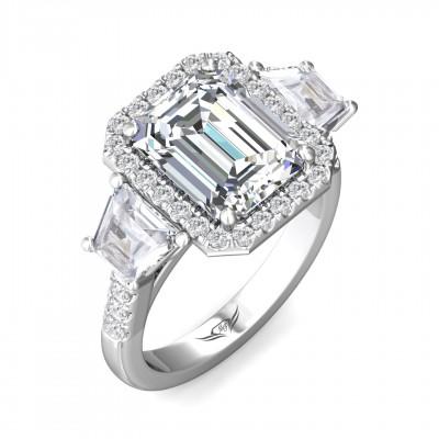 14k White Gold Ladies Engagement Ring VT12SST