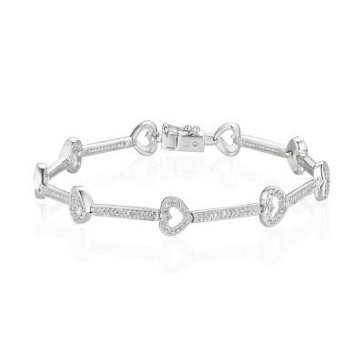 14k White Gold Ladies Bracelet B01130