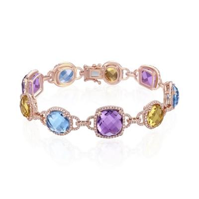 14k Rose Gold Ladies Bracelet B01138