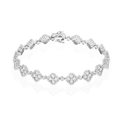 14k White Gold Ladies Bracelet B01277