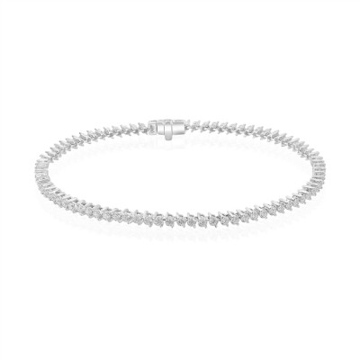 14k White Gold Ladies Bracelet B01312