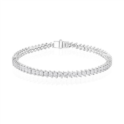 14k White Gold Ladies Bracelet B01314