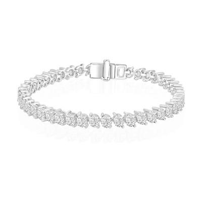 14k White Gold Ladies Bracelet B01318